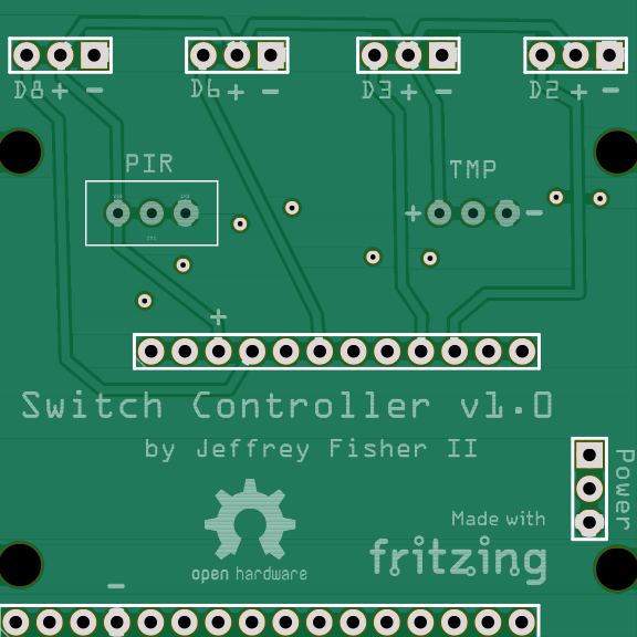 Four Servo Light Switch Controller